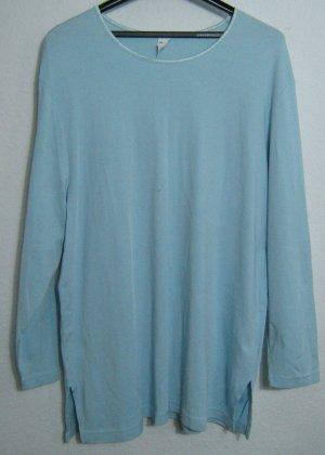 Longshirt Größe 48/50 Lange Ärmel Uni Hellblau