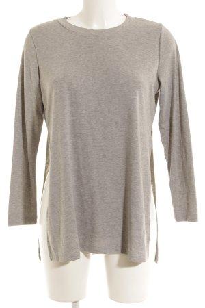 Camicia lunga grigio chiaro stile casual
