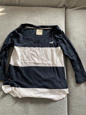 Hollister Camicia lunga bianco-blu scuro