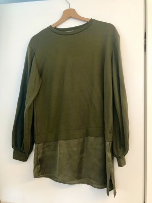 Lang shirt khaki-olijfgroen
