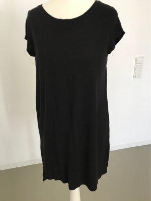 H&M Vestido estilo camisa negro Viscosa