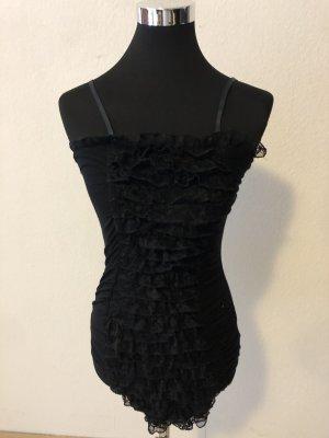 Longshirt Kleid Rüchen Spitze