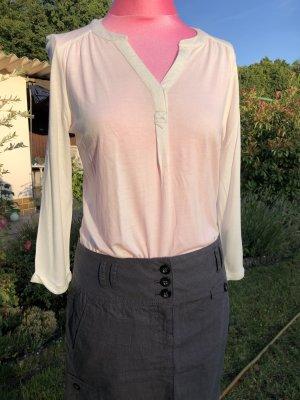 Longshirt, Langarm-Shirt, Tom Tailor, Creme/Beige, Gr. XS, Nagelneu