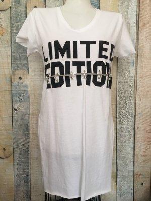 Shirt met print wit-zwart