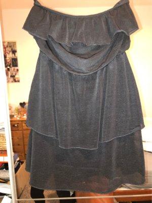 H&M Basic Bandeaujurk zwart