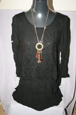 Made in Italy Camicia lunga nero Viscosa