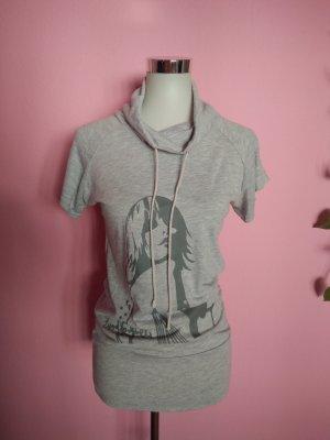 Longshirt mit Aufdruck in hellgrau (K3)