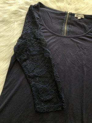 Ann Christine Long Shirt dark blue-gold-colored