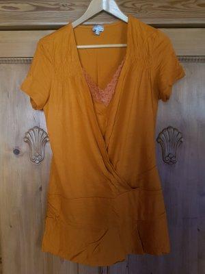 Heine Camicia lunga arancione scuro Viscosa