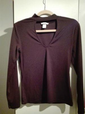 Longshirt mit V-Ausschnitt