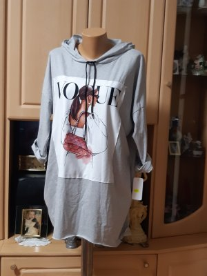 Made in Italy Robe Sweat gris clair