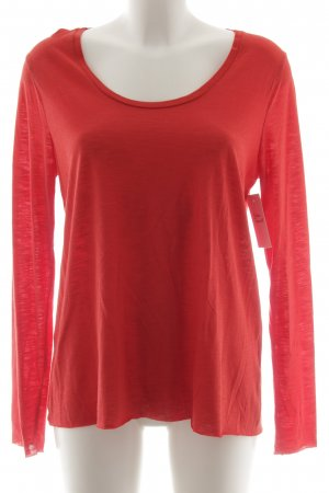 Longshirt rot meliert Casual-Look