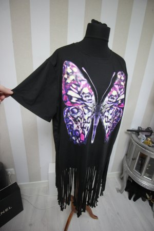 Longshirt Top Schmetterling Butterfly Fransen