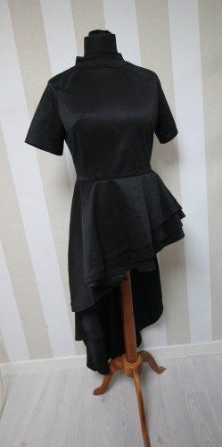 Camisa larga negro-color plata