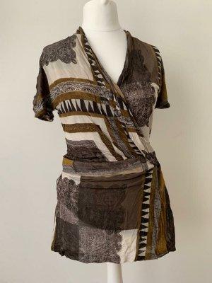 Etro Camicia lunga bronzo-grigio chiaro Viscosa