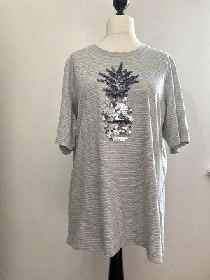 Longshirt von Mark Adam in Grau mit Pailletten