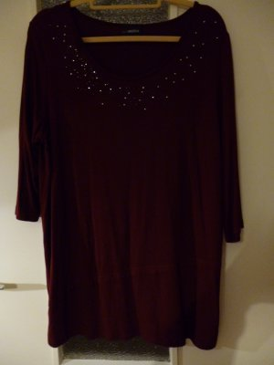 Longshirt von Miamoda Gr. 46, bordeauxrot, 3/4 Arm,  Länge 73 cm