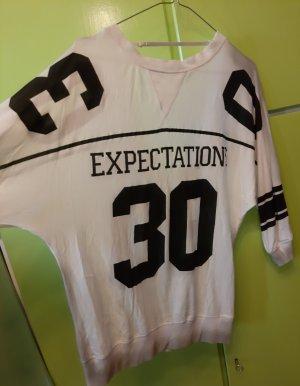 Lang shirt wit-zwart