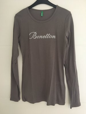 Benetton Top à manches longues taupe
