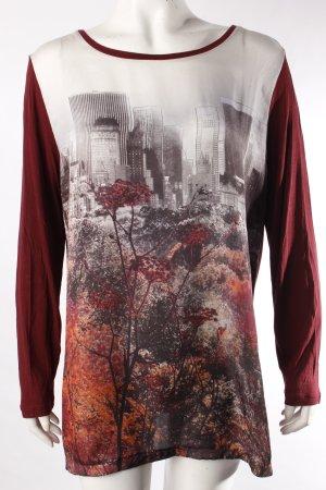 Longsleeve * Langarmshirt * mit City-Print * Größe L/40
