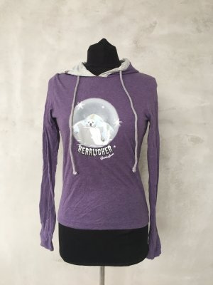 Blaustoff Herrlicher Longsleeve purple-light grey