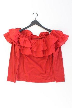 Longsleeve-Shirt Größe XL Langarm mit Carmen-Ausschnitt rot aus Baumwolle