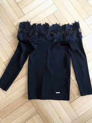 longsleeve Shirt schulterfrei schwarz von Lipsy XS