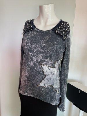 Longsleeve Sweatshirt Gr 38 M von Signet mit Perlen
