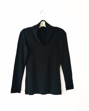 longsleeve • vintage • evelin brandt • schwarz • jersey • classy • businesslook