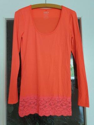 Only Longsleeve orange-pink