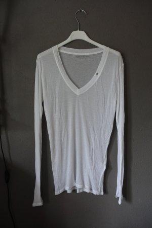 Zadig & Voltaire Koszulka z długim rękawem biały-srebrny