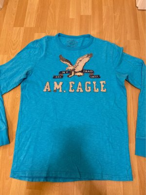 American Eagle Outfitters Top à manches longues bleu fluo