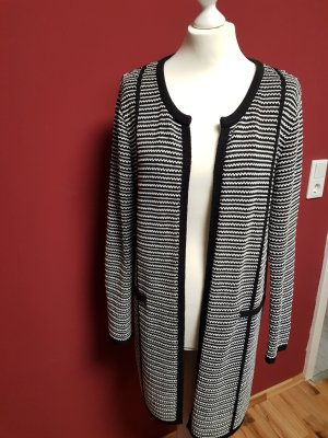 Atmosphere Knitted Cardigan black-natural white cotton
