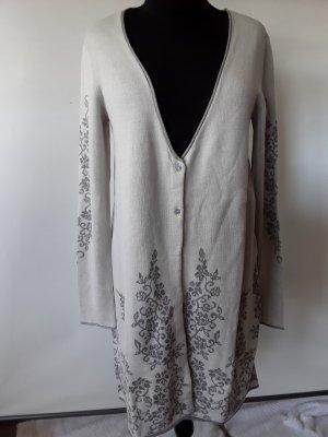 Linea Tesini Cappotto a maglia grigio chiaro Viscosa