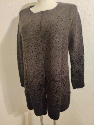 Tamaris Cappotto a maglia nero-grigio scuro Tessuto misto
