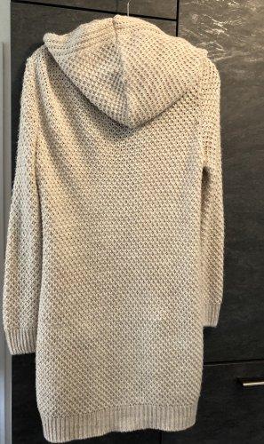 Twintip Długa dzianinowa kamizelka kremowy-jasnobeżowy