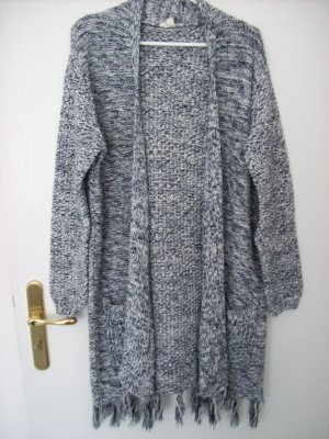 Esprit Cardigan lungo smanicato blu scuro-bianco sporco