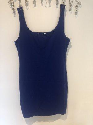 H&M Lange top donkerblauw-blauw