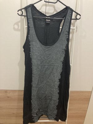 55 DSL Top largo negro-gris