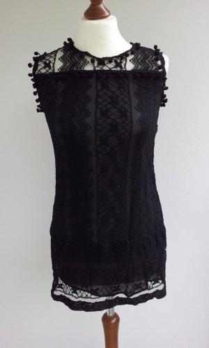 Lace Top black mixture fibre