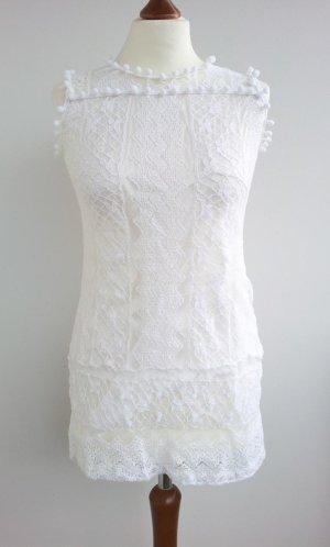 Lace Top white mixture fibre