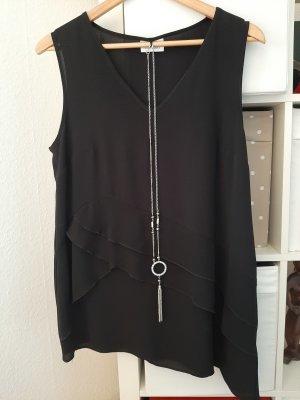 Lange top zwart Polyester