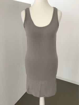 Only Top long gris-gris brun coton