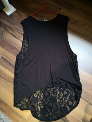 H&M Divided Top cut out negro