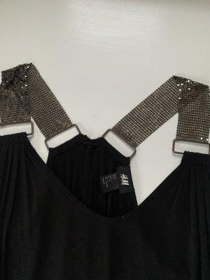 H&M Lange top zwart-donkergrijs