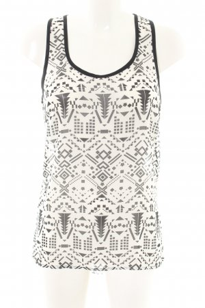Long Top white-black graphic pattern casual look