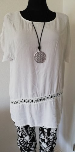 Made in Italy Long Blouse white