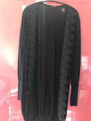 Fracomina Gilet long tricoté noir lycra