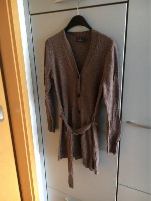 lola Gilet long tricoté gris brun