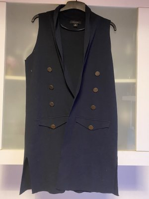 Atmosphere Long Knitted Vest dark blue